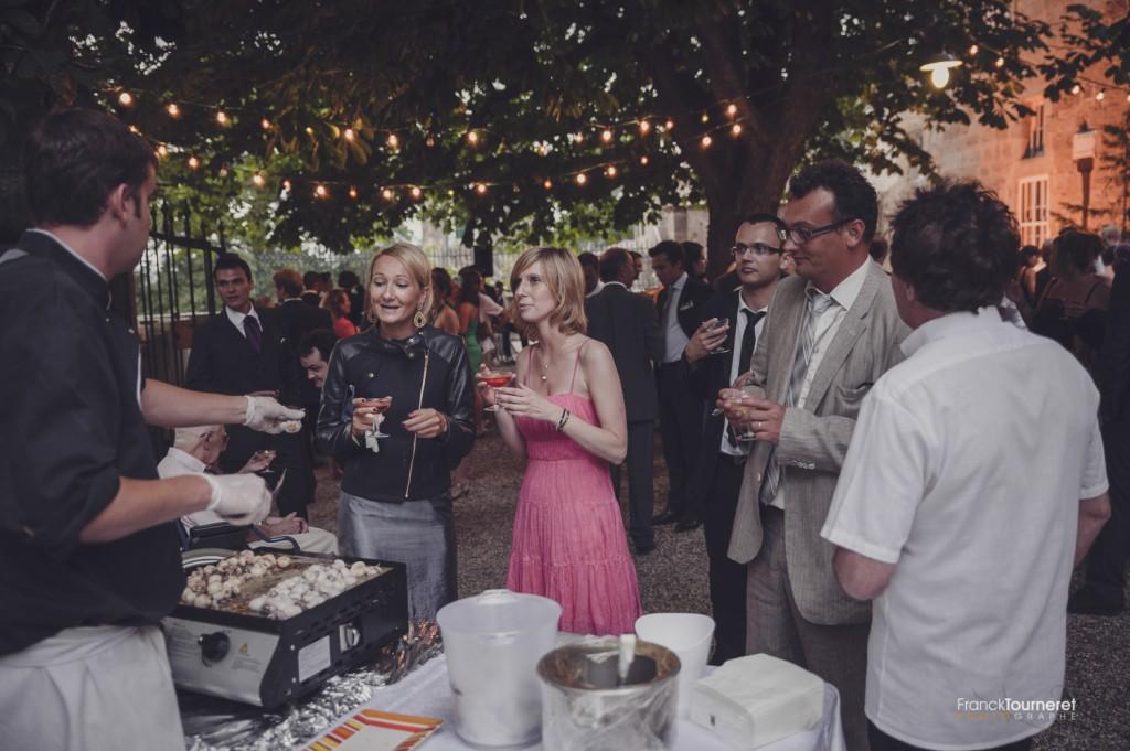Cocktail Vin d'Honneur Mariage Photographe Plancha invités