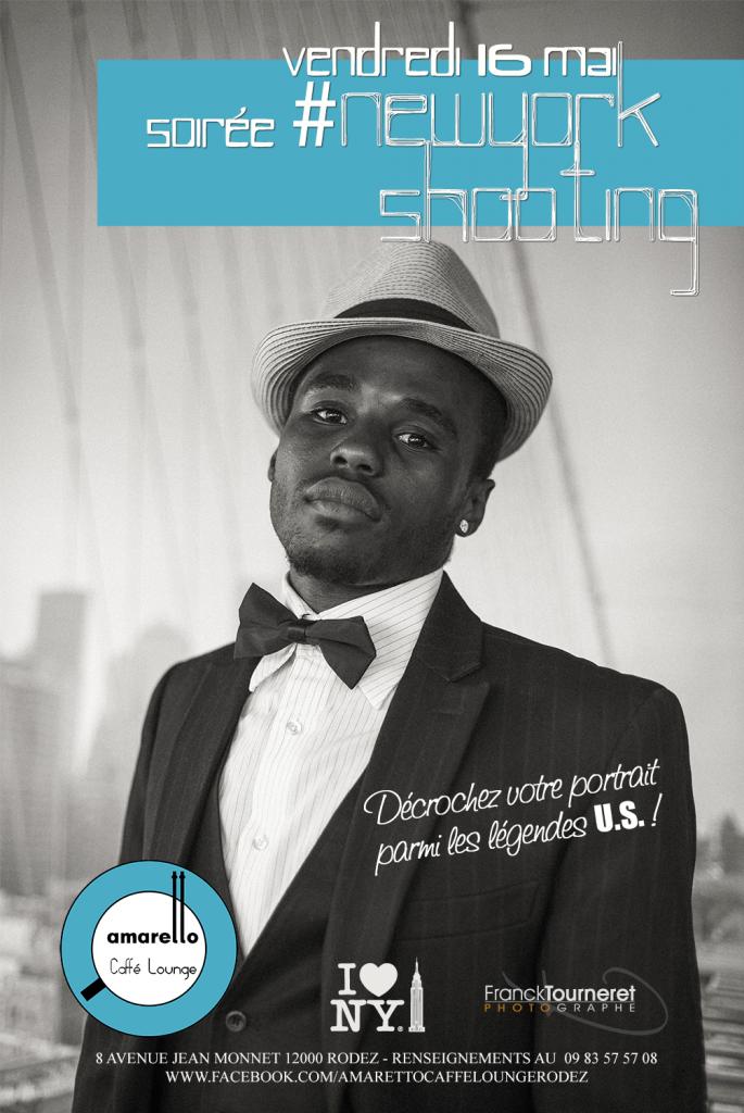 Affiche de la soirée #NewYorkShooting à l'Amaretto Caffè Lounge à Rodez