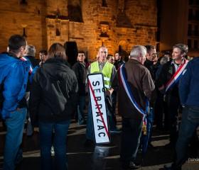Manifestation FDSEA12 à Rodez - 26/08/2014