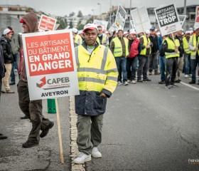 Reportage Manifestation CAPEB Aveyron
