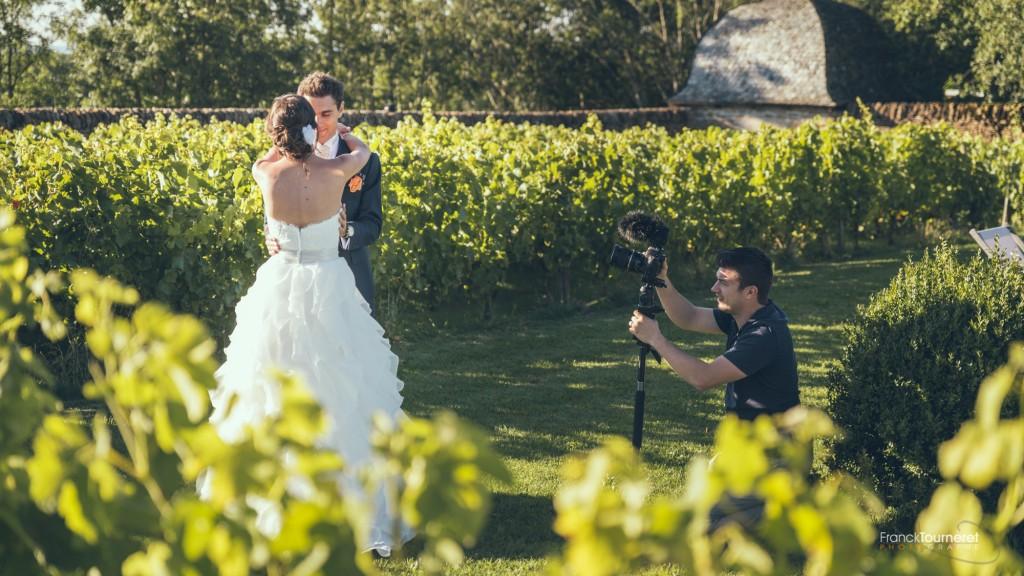 Photo de couple, coulisse vidéo de mariage