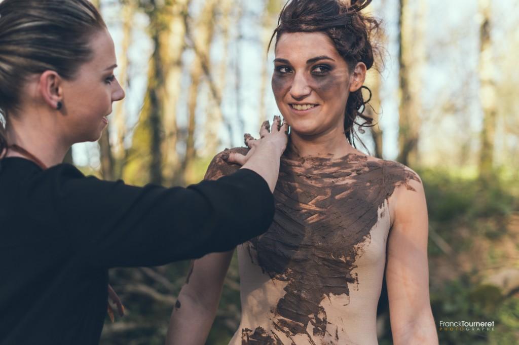 Céline Bec au maquillage pour Racines Chapitre 2 : La Terre
