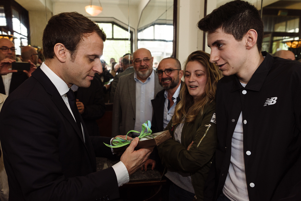 Emmanuel Macron En Marche à Rodez