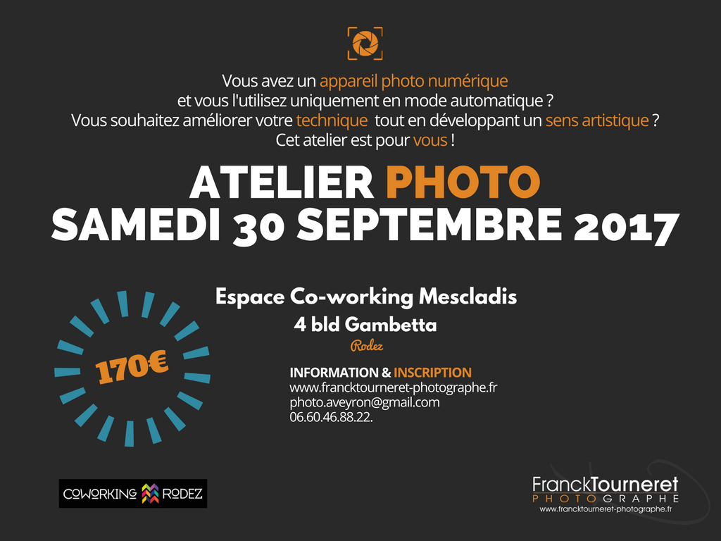 Atelier photo animé par Franck Tourneret