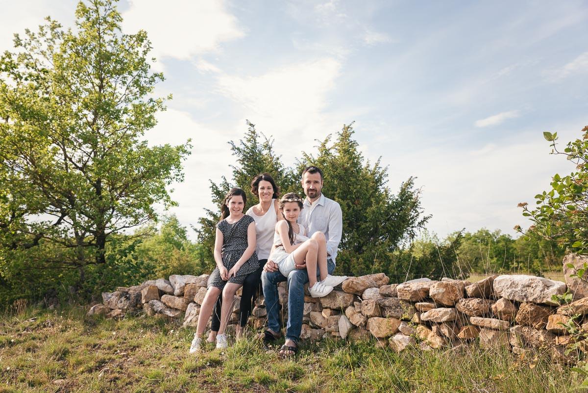 Enora, Elia, Isabelle et Philippe
