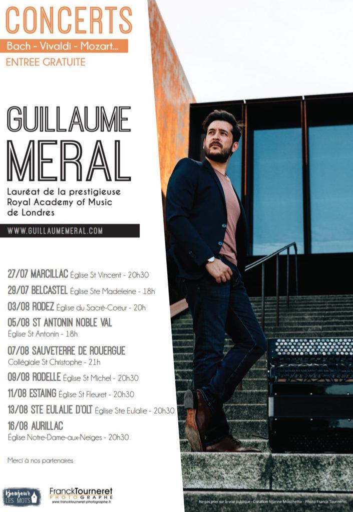 Dates des concerts de Guillaume Meral