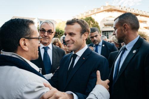 Emmanuel Macron à Rodez © Franck Tourneret