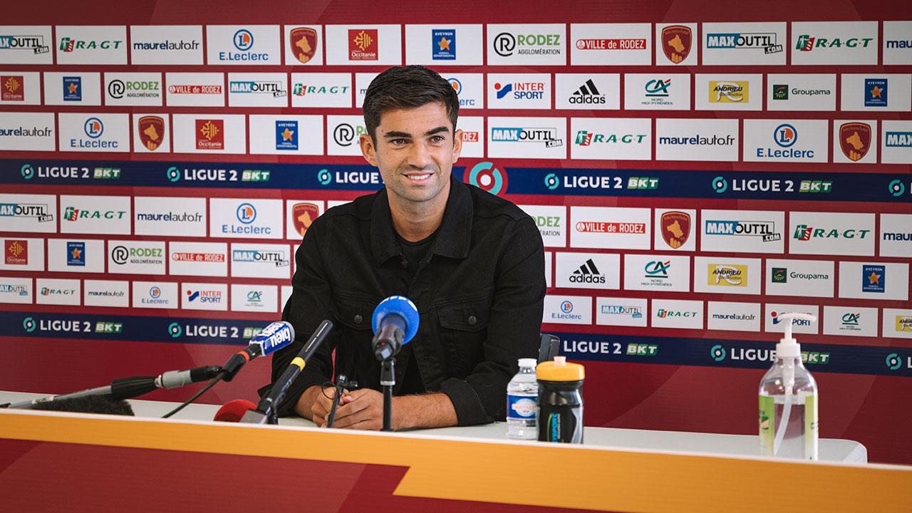 Enzo Zidane en conférence de presse