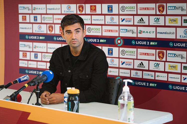 30/06/2021 à Rodez. Conférence de presse d'Enzo Zidane pour sa venue en Ligue 2 BKT dans le club du Rodez Aveyron Football